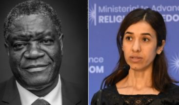 Médico del Congo y exprisionera islámica ganan Nobel de la Paz