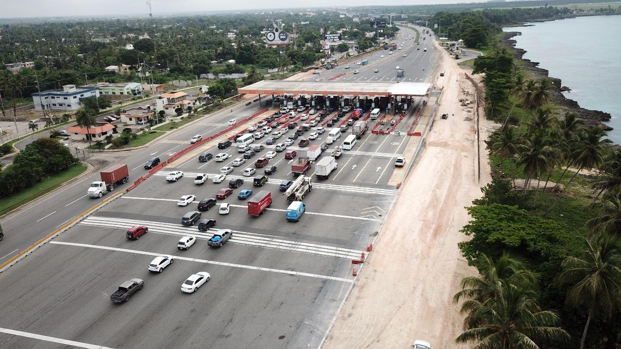 RDVial amplía la estación de peaje de la autopista Las Américas