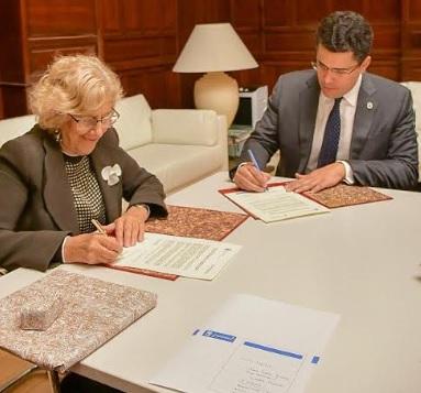 Alcaldía del DN y Madrid firman acuerdo de colaboración integral