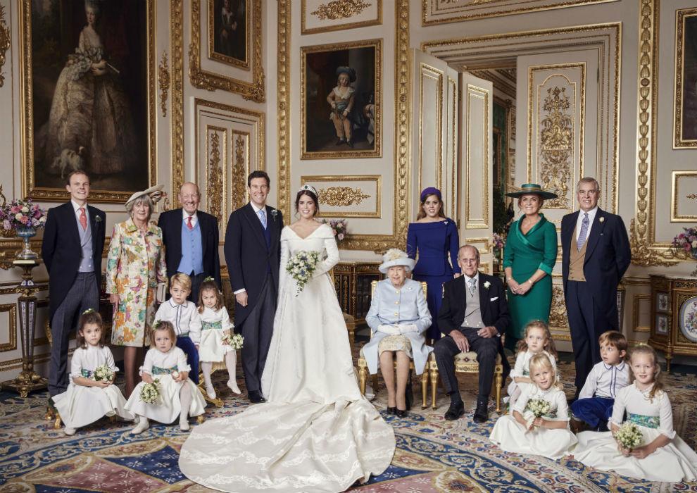 Eugenia de York divulga cuatro fotos oficiales de su boda en Windsor