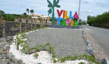 Villa Tapia exhibe cambios en su entrada para atraer más visitantes
