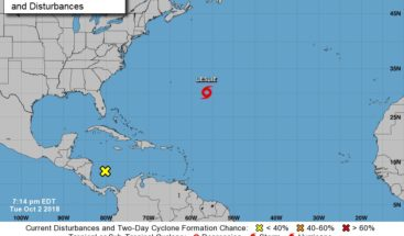 Leslie se fortalece en el Atlántico; mañana puede llegar a huracán