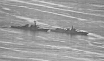 Filtran fotos del supuesto encuentro entre un destructor chino y EE.UU.