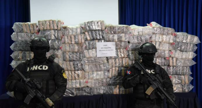 La DNCD decomisa 395 kilos de cocaína en San Pedro de Macorís