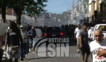 A bombazos termina caminata que realizaban comerciantes de San Cristóbal