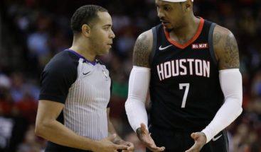 Los Rockets prescinden de Carmelo Anthony tras jugar 10 partidos