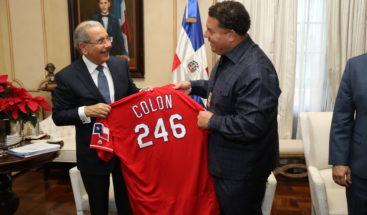 Bartolo Colón visita al presidente Danilo Medina
