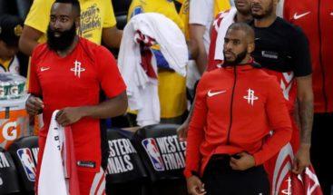 Harden anota 27 puntos y Rockets se vengan de Warriors