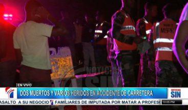 Dos muertos y varios heridos en accidente carretera San Cristóbal-Baní