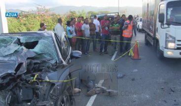 Dos muertos y tres heridos en accidente en la recta de Azua