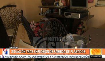 Viviendas afectadas por explosión en Polyplas; moradores verifican daños