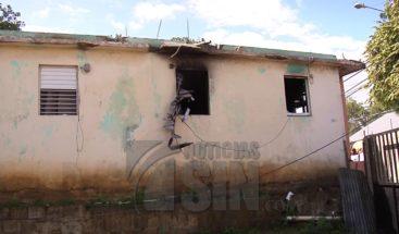 Incendio afecta vivienda en barrio Lindo de Santiago