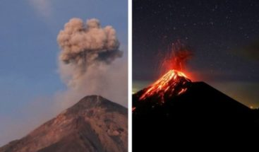 El Volcán de Fuego de Guatemala muestra actividad