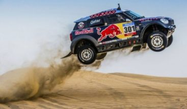 Salida en masa para la penúltima etapa del Dakar