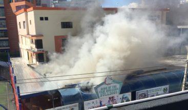 Conato de incendio afecta instalaciones del colegio New Horizon