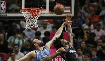 Heat consolidan liderato; derrotas sorpresa de Nuggets y Celtics