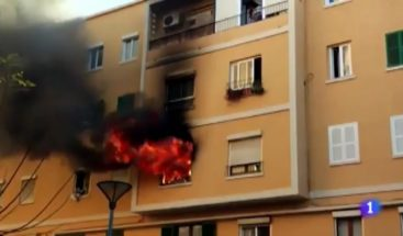 Familia dominicana resulta afectada por incendio en España