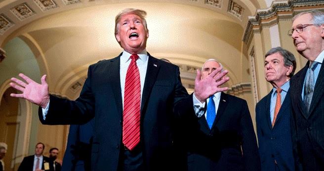 Trump abandona reunión con líderes demócratas sobre muro fronterizo