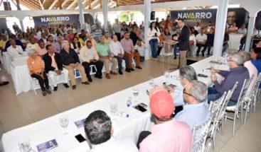 Navarro desarrolla consultas territoriales en provincias de la zona norte