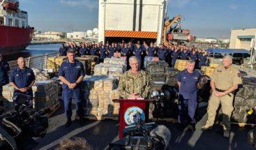 La Guardia Costera incauta cocaína valorada en 466 millones de dólares