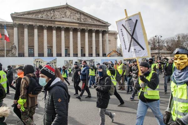 Francia vive un nuevo fin de semana de protestas de los