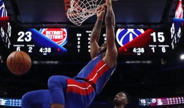 Drummond aparta doble-doble y Pistons logran cuatro triunfo seguido