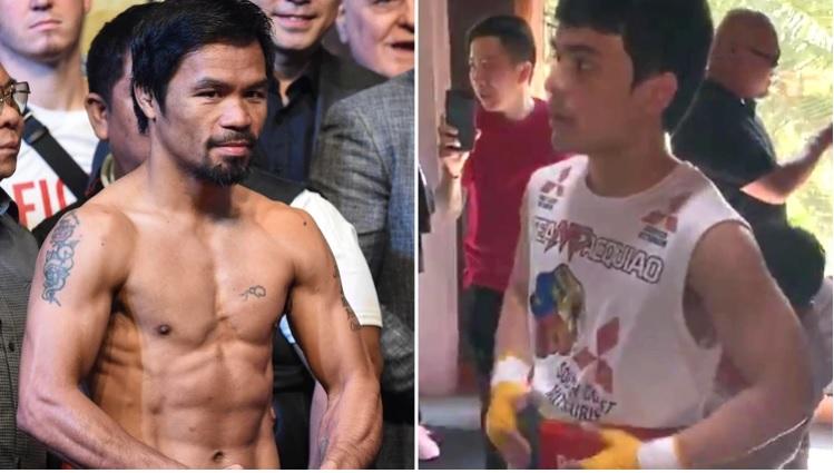 Hijo de Pacquiao se lanza como boxeador sin apoyo de su padre: