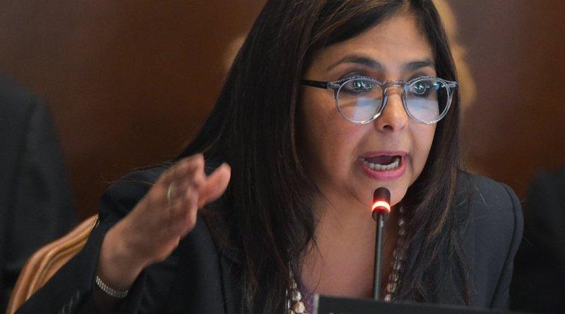 Vicepresidenta Venezuela llama a Guaidó a