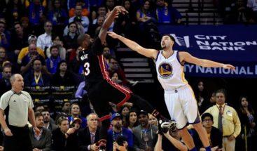 Wade sella con triple la victoria sorpresa de los Heat ante Warriors