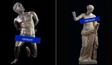 Museo de arte protesta por censura impuesta por Facebook a sus esculturas