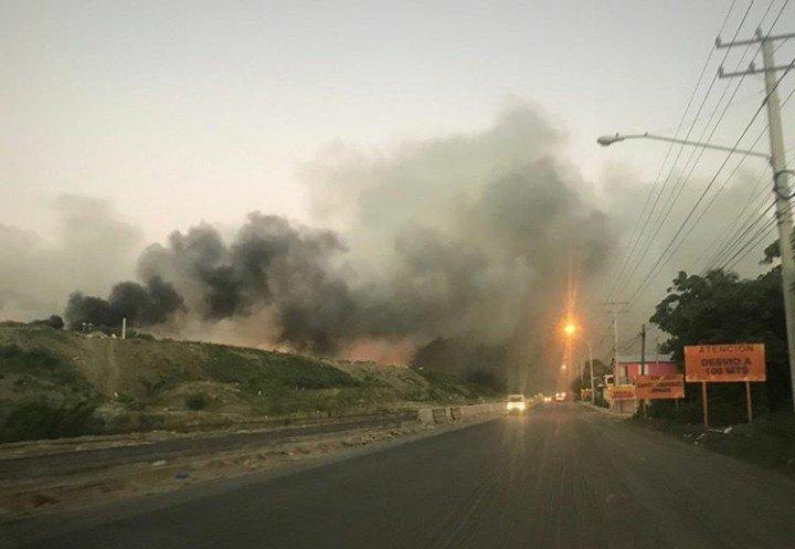 Se incendia nuevamente el vertedero de Puerto Plata