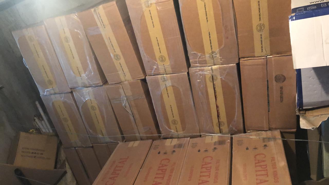 Confiscan más de 2 millones de unidades de cigarrillos de contrabando