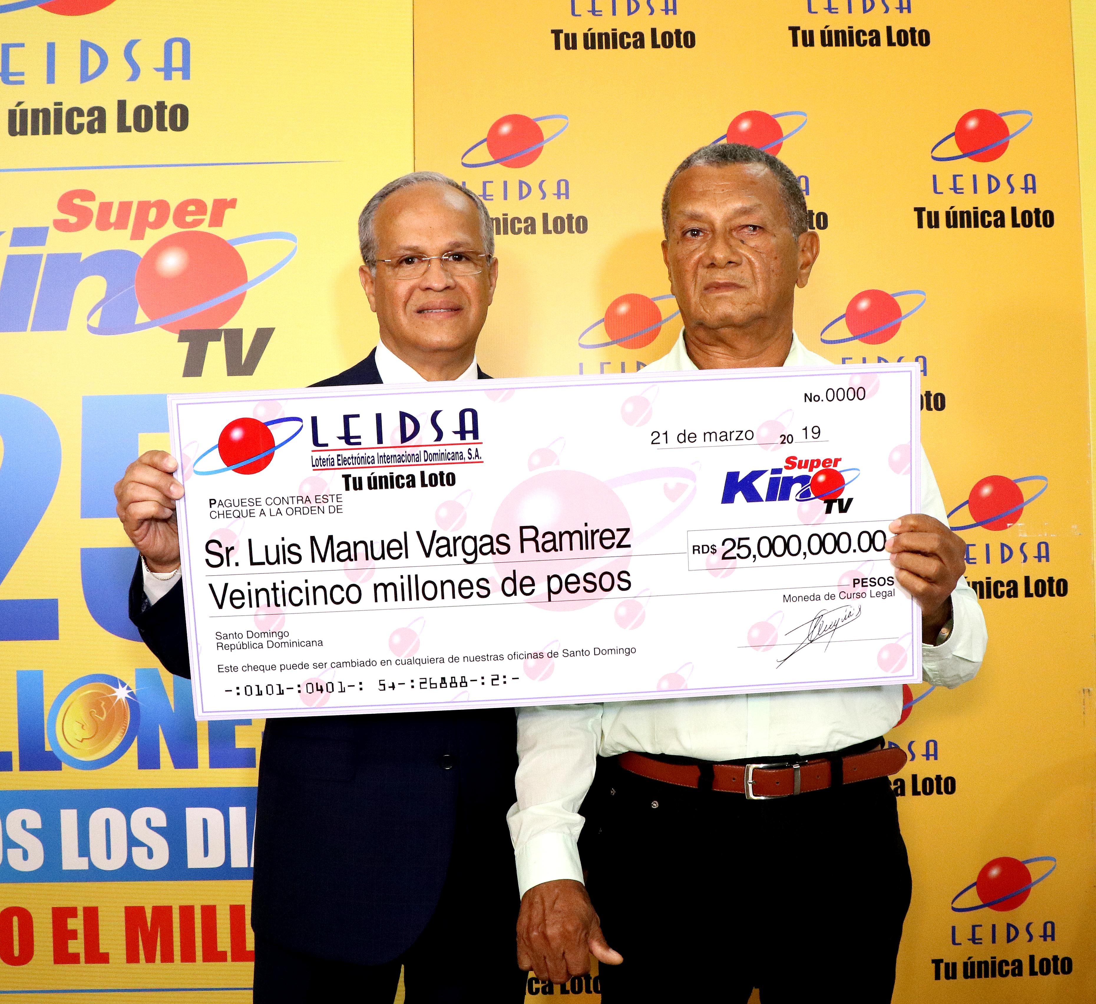 Empleado del CEA se ganaRD$ 25 MM con el Super Kino TV
