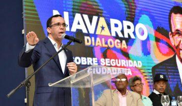 Navarro propone un Pacto Nacional por la Seguridad Ciudadana