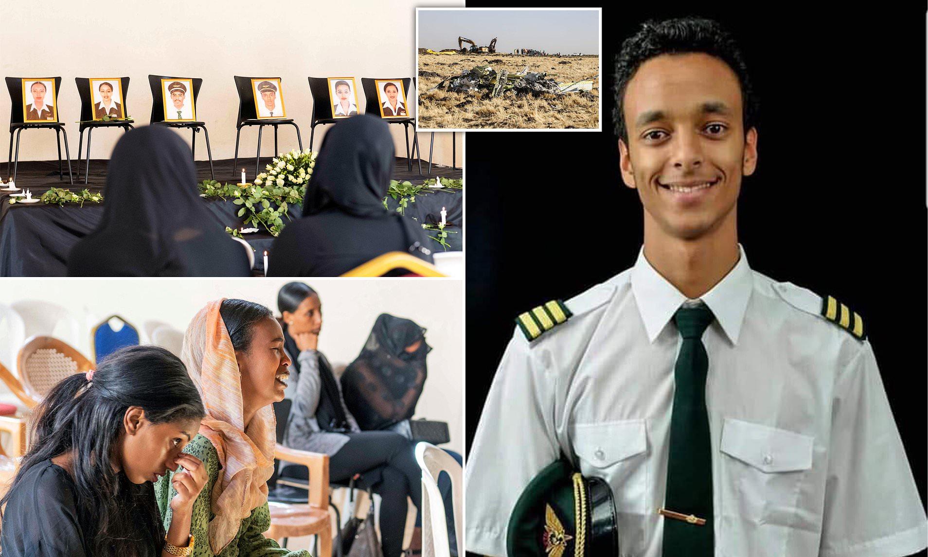 Homenaje al piloto más joven Ethiopian Airlines, muerto accidente el domingo
