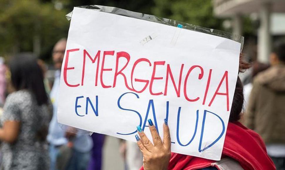 Venezolanos protestan ante un hospital para mostrar crisis a comisión de ONU