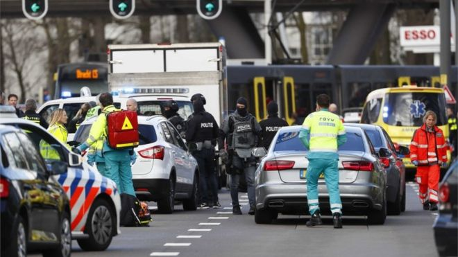 Almenos un muerto y varios heridos tras tiroteo en Utrecht-Holanda