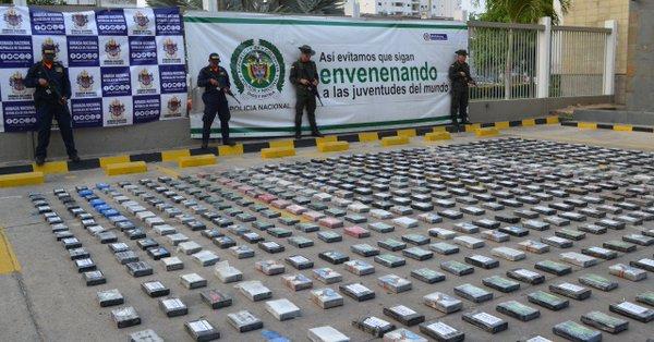 Colombia incauta cargamento de cocaína valorado en 32 millones de dólares