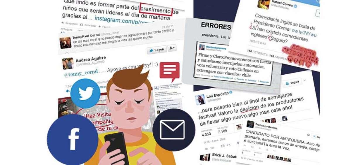 Alumnos españoles adolescentes corrigen la ortografía de famosos en las redes