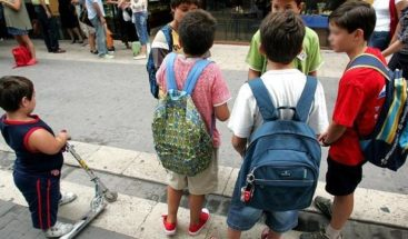 ¿Cuánto peso deben llevar los niños en sus mochilas y carritos?