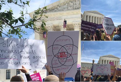 Cientos de personas protestan ante Supremo de EE.UU. contra leyes antiaborto