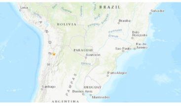 Sismo de magnitud 5,5 sacude Argentina y se siente en varias zonas de Chile