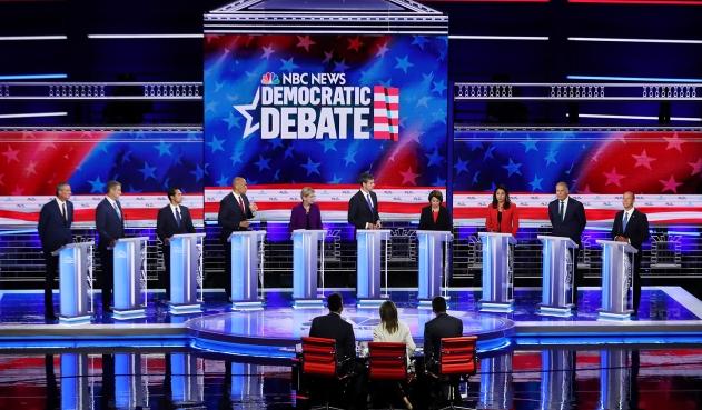 Empieza la segunda parte del debate entre aspirantes demócratas a Casa Blanca