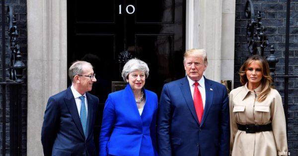 Trump llega a Downing Street para su reunión con Theresa May