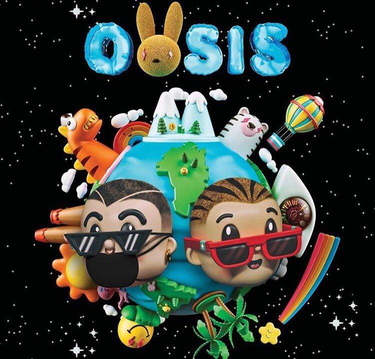 """Bad Bunny y J Balvin lanzaron hoy el disco """"Oasis"""""""