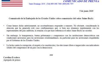 Embajada EEUU desmiente reunión de Medina con Robert Copley como afirmó Jaime Bayly