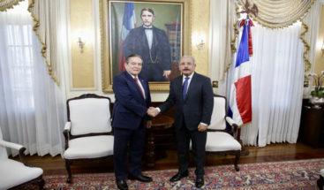 Presidente Medina recibe al presidente electo de Panamá, Laurentino Cortizo