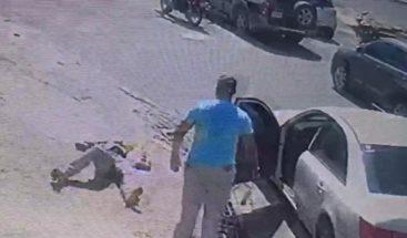 Capturan a chofer que golpeó con un bate a nacional haitiano