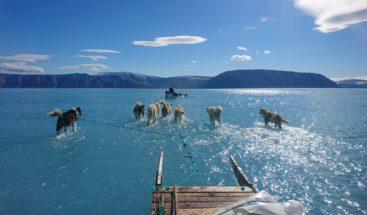 Foto que documenta los efectos del deshielo en Groenlandia se vuelve viral