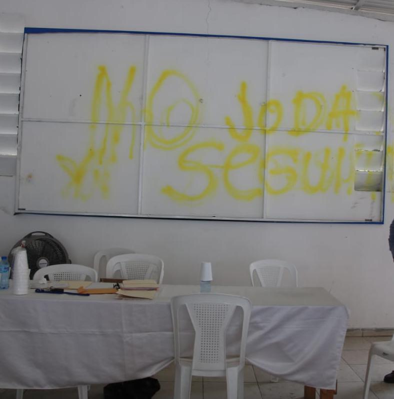 Dirigente del PRM en SDN denuncian vandalismo y amenazas en local